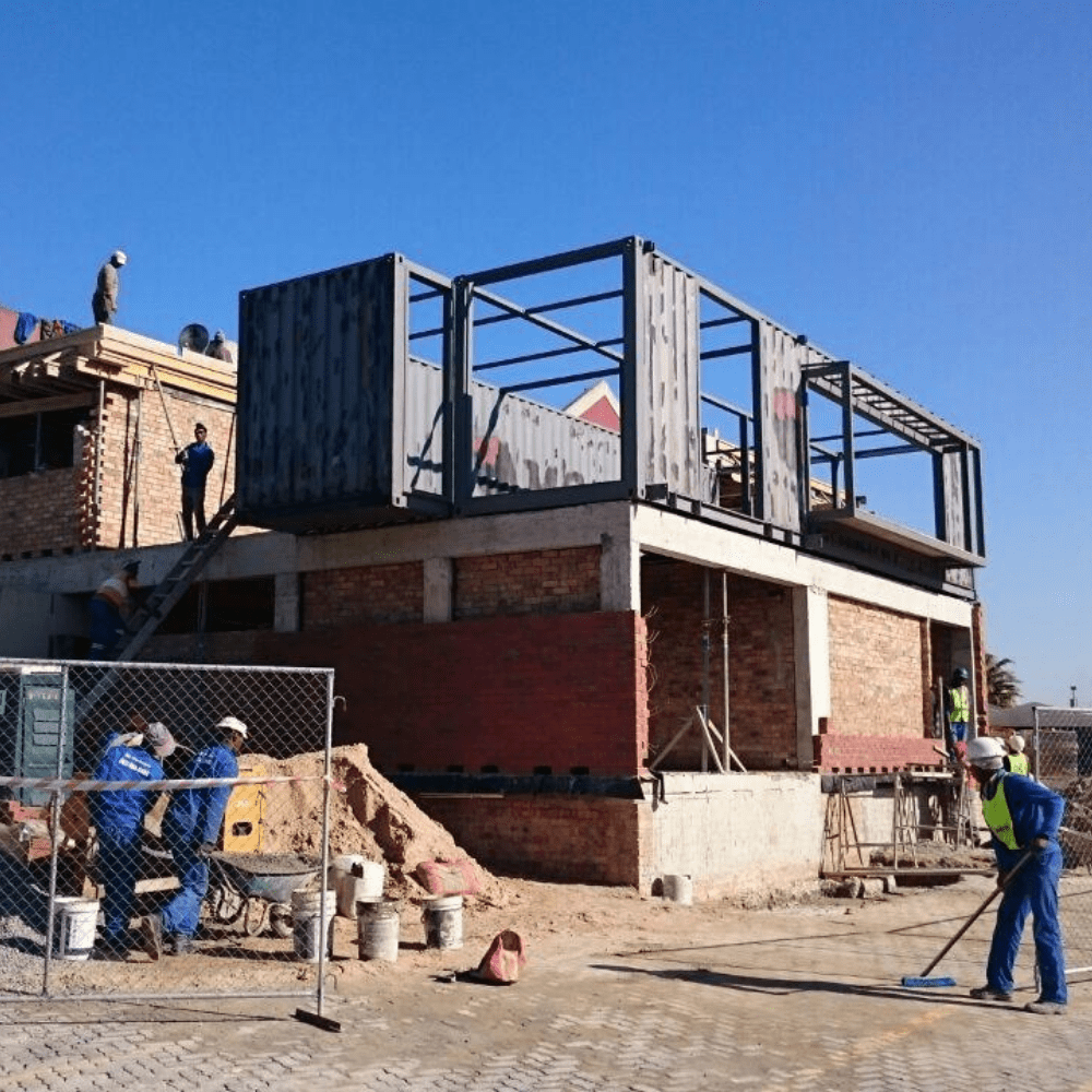 Shipping Container Conversions in Progress